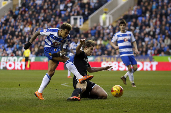 Reading's Danny Williams shoots