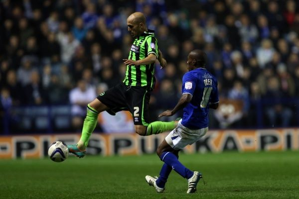 Bruno in action during Leicester v Brighton & Hove Albion, Npower Championship, Kingpower Stadium, Tes 23rd October 2012