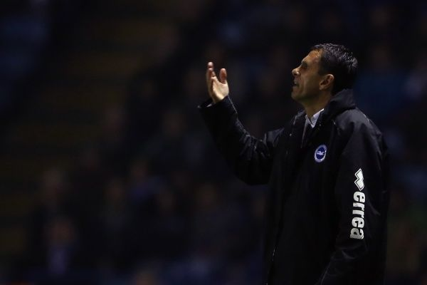 Gus Poyet during Leicester v Brighton & Hove Albion, Npower Championship, Kingpower Stadium, Tes 23rd October 2012