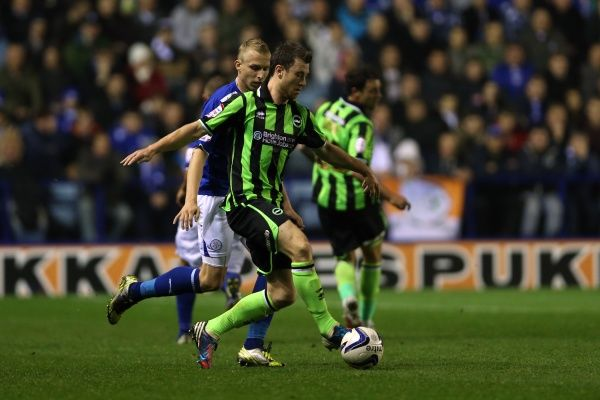 Ashley Barnes in action during Leicester v Brighton & Hove Albion, Npower Championship, Kingpower Stadium, Tes 23rd October 2012