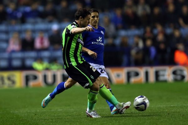 Wayne Bridge during Leicester v Brighton & Hove Albion, Npower Championship, Kingpower Stadium, Tes 23rd October 2012