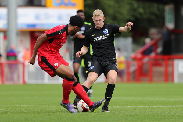 Pre-season match action during the build up to the EFL Sky Bet Championship, between Crawley Town and Brighton and Hove Albion at the CheckatradeStadium, Crawley on Saturday 16th July 2016