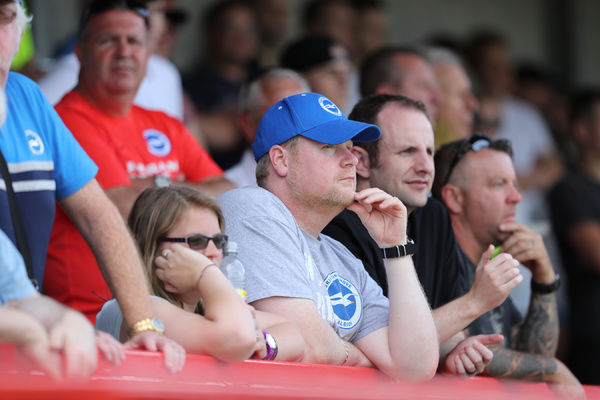 Pre-season match action during the build up to the EFL Sky Bet Championship, between Crawley Town and Brighton and Hove Albion at the Checkatrade.com Stadium, Crawley on Saturday 16th July 2016