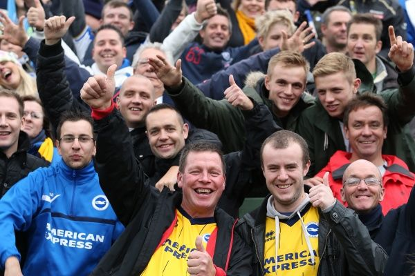 Brighton And Hove Albion Crowd Shots: Crowd shots Away Days - 2013-14