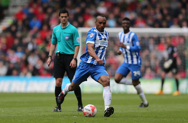 Chris O'Grady during the Sky Bet Championship match between Middlesbrough and Brighton and Hove Albion at the Riverside Stadium, Derby, England on 2nd May 2015