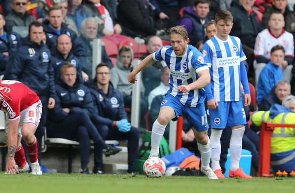 Craig Mackail-Smith during the Sky Bet Championship match between Middlesbrough and Brighton and Hove Albion at the Riverside Stadium, Derby, England on 2nd May 2015