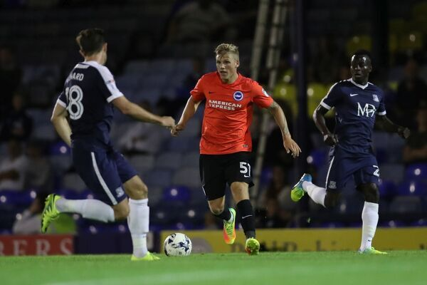 Match action during the Checkatrade EFL Trophy match betweenSouthend United and U23 Brighton & Hove Albion and Fulham at Roots Hall, Southend, season 2016_17, Tuesday 30th August 2016