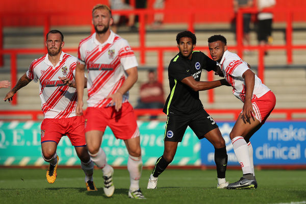 Pre-season match action during the build up to the EFL Sky Bet Championship, between Stevenage and Brighton and Hove Albion at The Lamex Stadium, Stevenage on Saturday 23rd July 2016