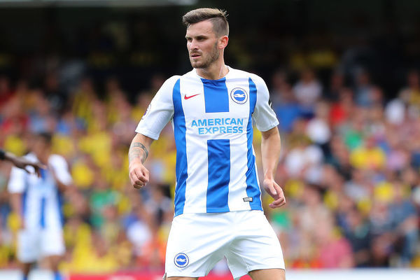 Brighton and Hove Albion midfielder Pascal Gross (13). Match action during the Premier League match between Watford and Brighton and Hove Albion at Vicarage Road, Watford on the 11th August 2018