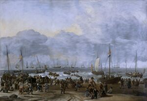 Bakhuizen - Landing of William of Orange at Scheveningen K040873