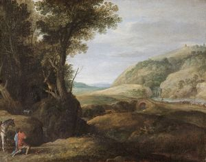 Bril - Landscape with St Hubert and the Stag N070579