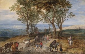 Brueghel - Country road scene N070596