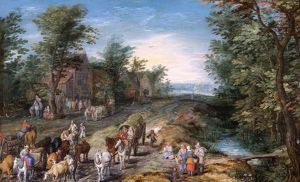Brueghel - Road Scene with Travellers and Cattle N070595