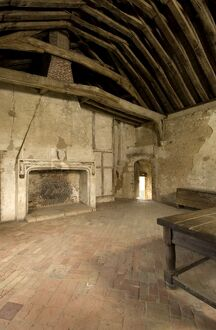 Castle Acre Priory. First floor bedchamber N071735
