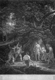 Charles II in the Forest of Boscobel J920320