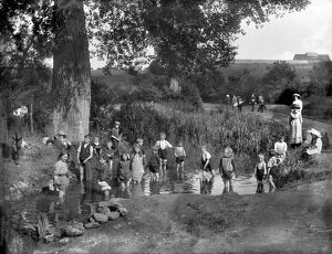 Children playing in a pond in 1914 CC71_00076