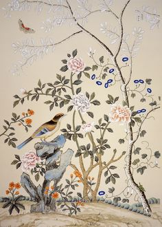 Chinoiserie wallpaper J050121
