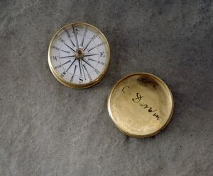 Compass with Darwin signature J970123