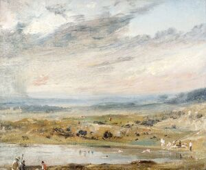 Constable - Hampstead Heath with Pond and Bathers K040850