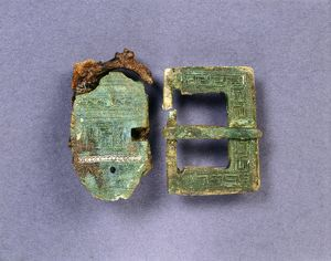 Copper alloy buckle and plate J920217
