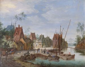 Gysels - A Flemish Village: the River Landing Stage N070602