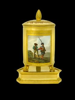 Ice pail depicting a Highlander with Spanish militia N081111