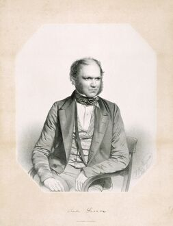 Lithograph of Charles Darwin K970239