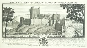 Prudhoe Castle engraving N070743