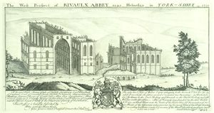 Rievaulx Abbey engraving N070746
