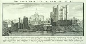 Rochester Castle engraving N070824