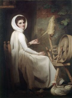 Romney - Lady Hamilton at the Spinning Wheel J910506