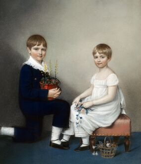 Sharples - Charles Darwin (aged six) and Catherine K971925
