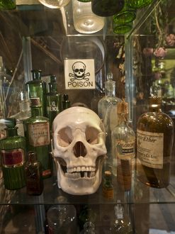Skull and poison bottles DP134420