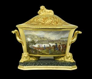 Soup tureen depicting the Battle of Orthes N080939