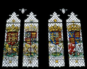 Stained glass windows, Eltham Palace K020351