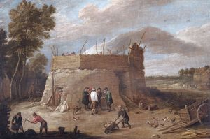 Teniers - A Lime-kiln with Figures N070547