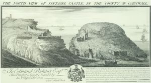 Tintagel Castle engraving N070783