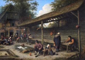 Van Ostade - Courtyard of an inn... N070679