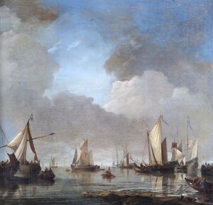 Van de Velde - Large Ships and Boats in a Calm N070600