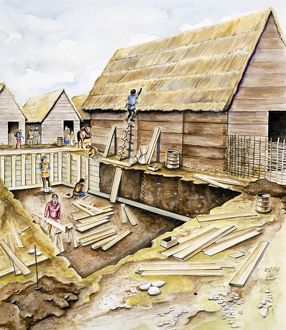 Viking buildings J940007