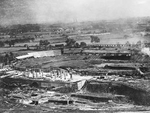 Wembley under construction 1922 EPW008076