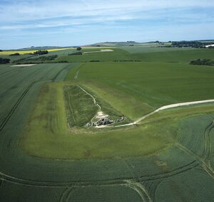 West Kennet Long Barrow from the air K040320