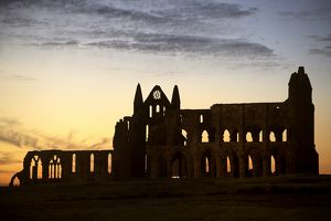 Whitby Abbey silhouette N080815