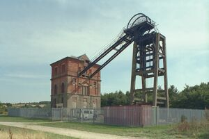 Winding House and Headstocks at Bestwood Colliery