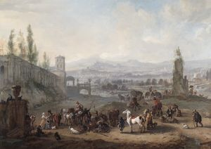 Wouwerman - The Return from the Chase N070574