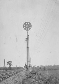 Broad Gauge Disc Bar Signal, c1870s