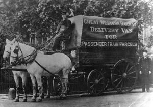 Great Western Railway Horse Drawn Delivery Van, c1910