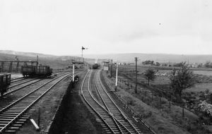 Gwaun-Cae-Gurwen colliery sidings and signalbox