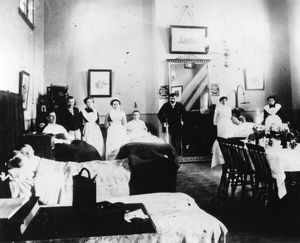 Medical Fund Hospital staff and patients, c1890
