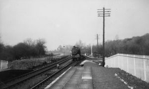 Midgham Station, looking west, 16th April 1956
